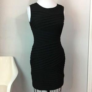 Calvin Klein Black Bodycon Shutter Dress